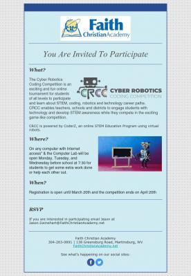 Cyber Robotics Coding Competition