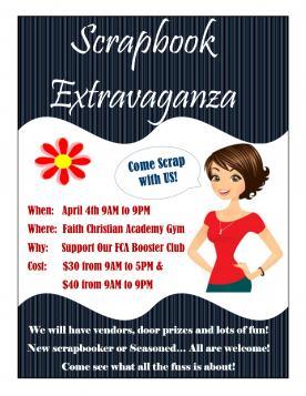 Scrapbook Extravaganza Flyer