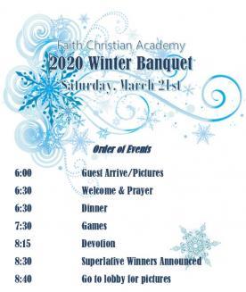 Winter Banquet flyer