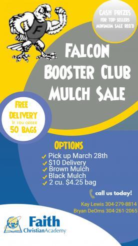 Falcon Booster Club Mulch Sale Flyer